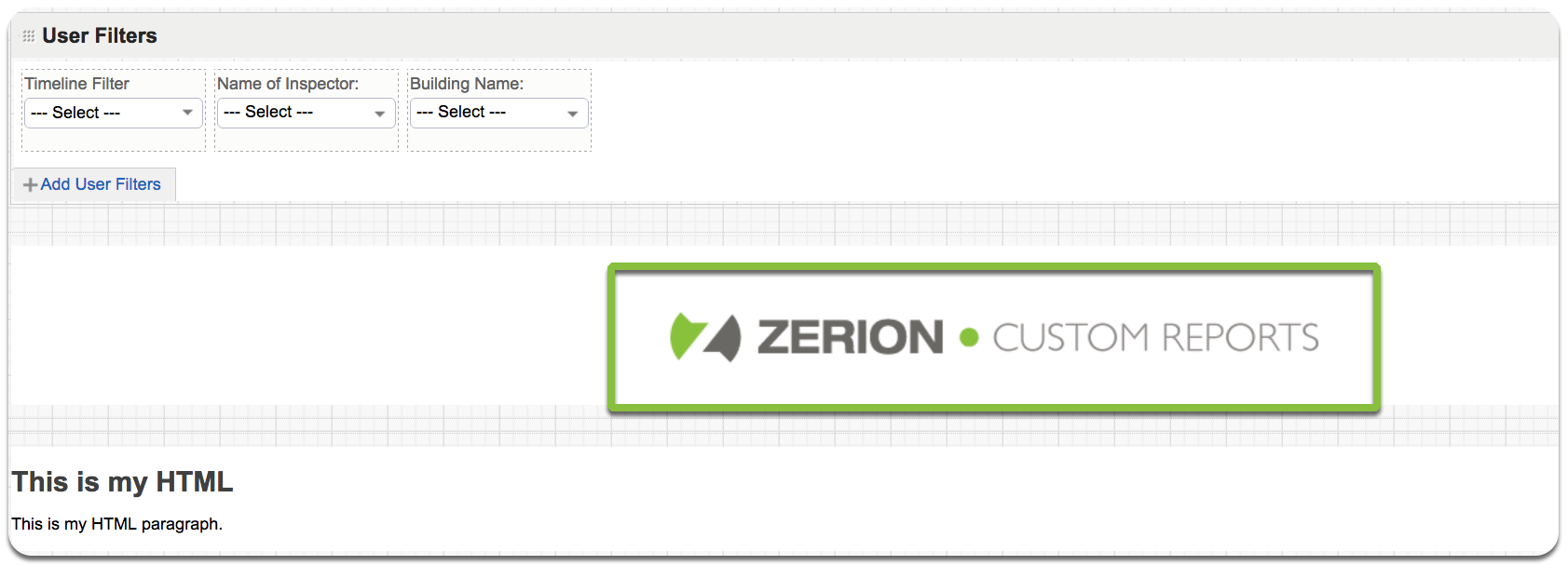 add images to zerion dashboard