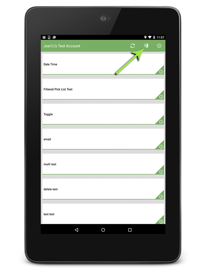 logout of iForm Android