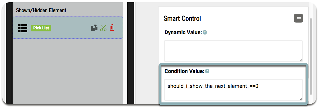 How do I add Condition Values to my form elements? – Zerion Software