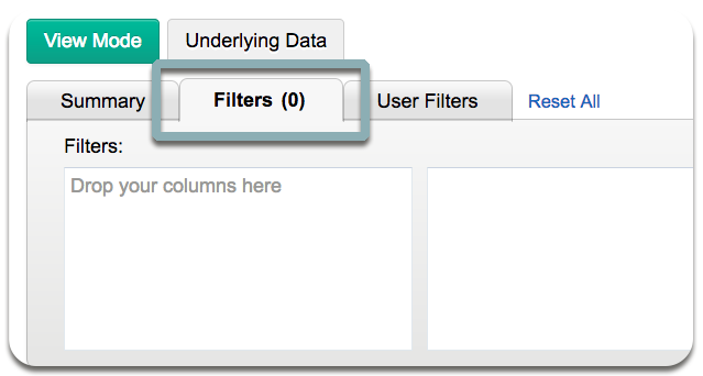 summary view filters